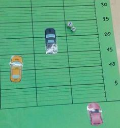 tablero-carrera-coches2 Ideas Para, Superhero, Education, Maths, Carrera, Club, School, Alphabet, Math Games