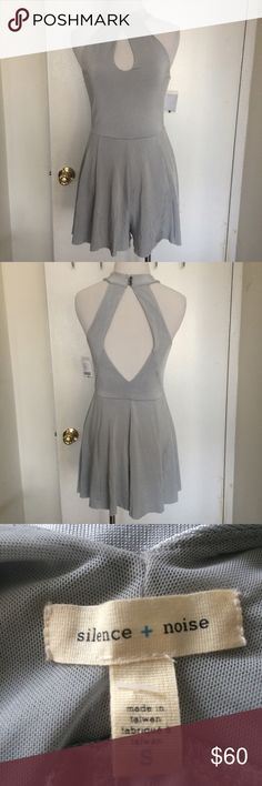❗NO SWAPS❗NWT Grey Romper size small. brand new with tags. never worn. no holes, rips, or stains. retails for $79. no model for this item Urban Outfitters Pants Jumpsuits & Rompers