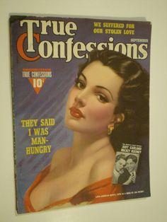 vintage magazine- true confessions