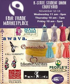 a w a v a.: Make it an Awava Holiday! We're at the K-State Union through Friday for the #FairTrade Marketplace!