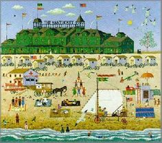 """The Nantucket"" by Charles Wysocki...reminds me of my sister and living there."