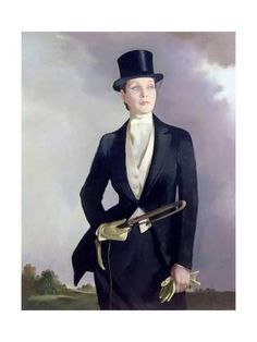 Portrait of Doris Zinkeisen Fine by Anna Katrina Zinkeisen Female Portrait, Female Art, Victor Victoria, Riding Habit, Art Deco, Equestrian Style, Equestrian Outfits, Dory, Painting & Drawing