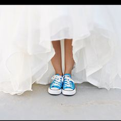 Dancing shoes!!! I think you can get chucks in sparkly silver which is very cute.  Your bridesmaids might need dancing shoes too!