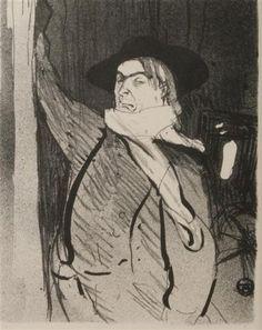 Анри де Тулуз-Лотрек (Henri de Toulouse-Lautreс, 1864-1901) Портрет Аристида Брюана, 1893. Литография, 26,8x21,5 см.