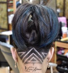 Cool and Trending Under Your Hair Tattoo Art Designs