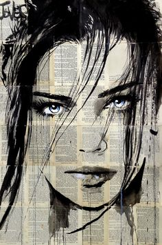 - -artist_loui_jover_creates_adorable_portraits_of_women_with_black_ink_on_newspape. - artist_loui_jover_creates_adorable_portraits_of_women_wit. Art Painting Tools, Art Sketches, Art Drawings, Journal D'art, L'art Du Portrait, Newspaper Art, Newspaper Painting, Acrylic Painting Canvas, Acrylic Art