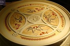 Beech Wood,Handmade,with Ancient Greek Handpainted Patterns,End Table by CaltaveridisClassic on Etsy