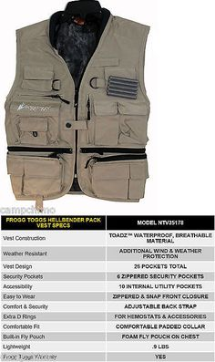 Vests 65982: Frogg Toggs Toadskinz™ Hellbender™ Fly Fishing Pack Vest Khaki Color Ntv35178 -> BUY IT NOW ONLY: $49.95 on eBay!