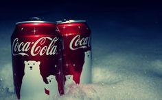 Latas de Coca Cola en Navidad