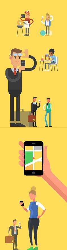 Characters for Western Union video, Illustration  AlexeyKuvaldin #infographics