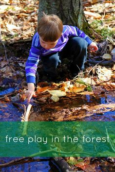 """""""A daily dose of free play outside allows children to interact with their environment, builds their physical strength, and encourages them to use creativity to solve problems. Forest School Activities, Outdoor Activities For Kids, Nature Activities, Outdoor Learning, Outdoor Play, Motor Activities, Outdoor Classroom, Outdoor School, Environmental Education"""