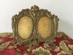 French antique double frame, bronze , 19th century, Golden frame de la boutique VintagedeFrance sur Etsy