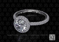 Custom Made Round Diamond Ring with Halo by Leon Mege Round Diamond Ring, Round Diamonds, Solitaire Ring, Halo, Dream Wedding, Jewelry Design, Engagement Rings, Enagement Rings, Wedding Rings