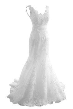 Sunvary New Arrival Mermaid Lace Wedding Dresses Bridal Gowns Long 2014, http://www.amazon.com/dp/B00B0U0KLI/ref=cm_sw_r_pi_awdm_aCH3tb0FYX74C