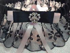 "The ""Colette"" Black/Pink Garter Set. $75.00.Free shipping. Wedding Garters of distinction. https://www.etsy.com/listing/200678617/the-colette-blackpink-garter-set?ref=shop_home_active_20"