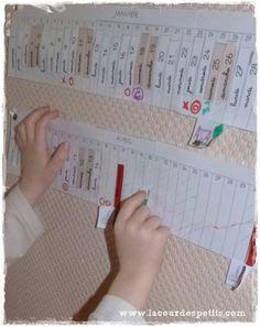 La poutre du temps Montessori à imprimer  La cour des petits