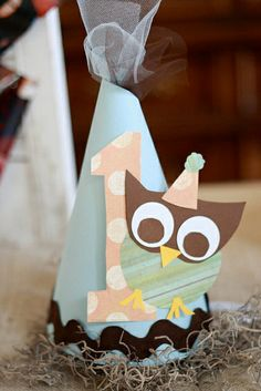 Owl Themed Birthday Party hat