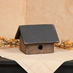 Small 1 Hole Birdhouse in Mustard 5 x 8 x 6 Country Front Porches, Porch Decorating, Decorating Ideas, Country Primitive, Birdhouse, Accent Colors, Country Decor, Cupboard