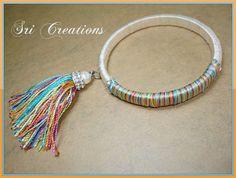 Silk thread bangle with a tassel by https://www.facebook.com/Sricreationsthestylepalette