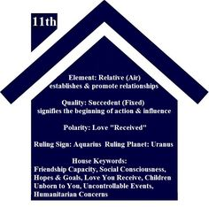 Astrology Basics -11th House, From ©2009 Astrology Basics by K