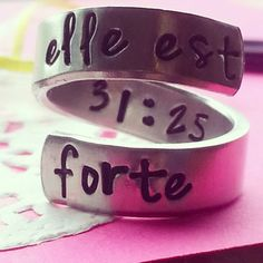 Proverbs 3125 //Elle est forte //she is by LindaMunequita on Etsy, $11.00