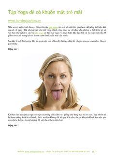 Tập yoga để có khuôn mặt trẻ mãi by Làm đẹp tự nhiên via slideshare