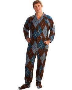 Argyle footed Pjs!