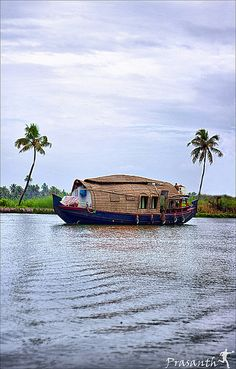Houseboat in Alappuzha, Kerala India