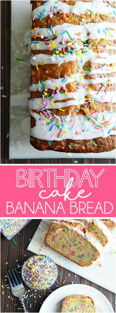 This banana bread is perfect for a special birthday breakfast or just a fun way to use up those old bananas! Incredibly moist, easy to make, and so much fun.