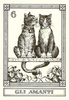 Cat Tarot Cards Feline Fortune Telling Il Gatti, 4 Cards -2 6 17 Matto