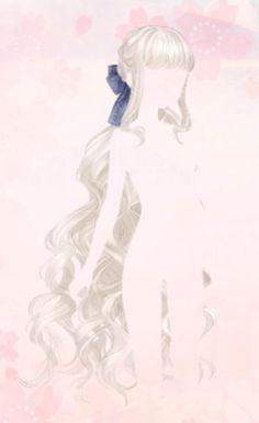 Screen Shot at am. Anime Girl Dress, Anime Art Girl, Female Anime Hairstyles, Anime Purple Hair, Long White Hair, Pelo Anime, Manga Hair, Hair Sketch, Pretty Drawings
