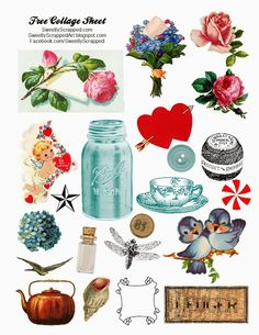 Sweetly Scrapped: Free Digital Collage Sheet