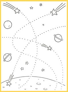 kosmos_rasskraski11 Space Theme Preschool, Preschool Writing, Preschool Lessons, Preschool Worksheets, Planets Activities, Preschool Learning Activities, Preschool Activities, Kids Learning, Space Classroom