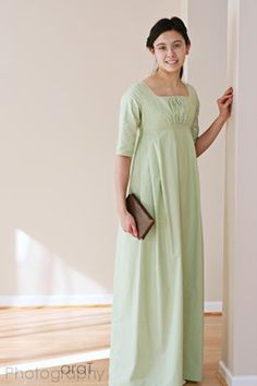 A Lass Of Yesteryear: A Regency Sewing Weekend Modest Dresses, Modest Outfits, Dresses With Sleeves, Vintage Outfits, Vintage Dresses, Pretty Outfits, Pretty Dresses, Regency Dress, Regency Era