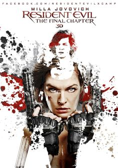 Fan made poster for Resident Evil: The Final Chapter | Alice | Milla Jovovich