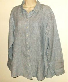 NEW LANDS END WOMENS 3//4 SLEEVE LACE FRONT CREWNECK TOP SHIRT IVORY 1X 16W 18W