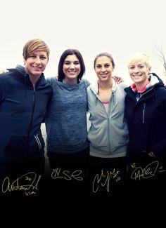 Abby Wambach, Hope Solo, Carli Lloyd, Megan Rapinoe. (Nike Women/Facebook)