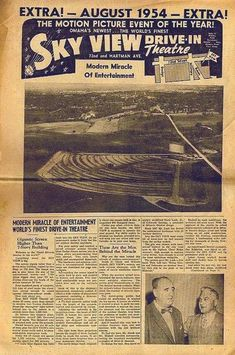 Modern Miracles, Council Bluffs, Drive In Theater, Sky View, Old Ads, Theatres, Black People, Old Pictures, Nebraska