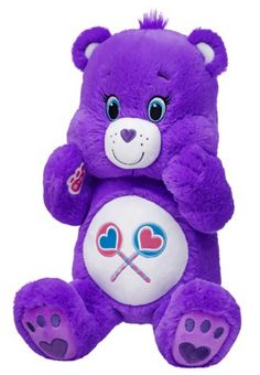 Build a Bear Purple Share Care Bears Teddy Stuffed Plush Toy New with Tags In Stock Now at https://www.bonanza.com/booths/TweetToyShop