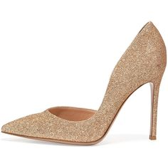 Gianvito Rossi Suede Half-d'Orsay 105mm Pump, Nude Bright (16,945 HNL) ❤ liked on Polyvore featuring shoes, pumps, heels, gianvito rossi, d'orsay shoes, nude shoes, suede shoes and bright colored shoes