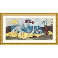 Great American Picture La joie de vivre (Joy in Life) Gold Framed Print - Pablo Picasso - 226016-Gol