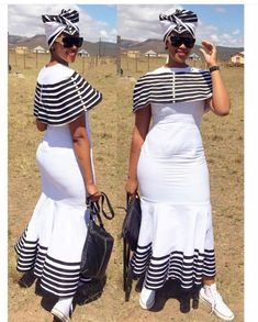 Xhosa traditional wedding attire for 2019 African Print Dresses, African Print Fashion, African Wear, African Attire, African Fashion Dresses, African Women, African Dress, African Prints, African Theme