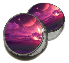 This listing is for one PAIR of plugs (2 plugs) as pictured.    Picture is set in a pair of double flare or single flare stainless steel plugs