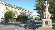 Beautiful Downtown Sausalito, CA!  The elephant statues were donated to Sausalito by the World Fair!