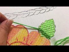 Puntada Fantasia hoja canasta de rosas - YouTube Embroidery Stitches, Hand Embroidery, Irish, Make It Yourself, Sewing, Cross Stitch Embroidery, Drawings, Hand Embroidery Stitches, Mexican Embroidery