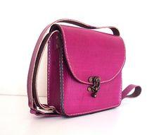 Magenta Pink Messenger Bag Medium Size Shoulder Bag by ammaciyo, $64.00