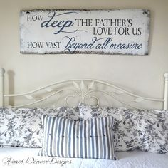 How deep the Father's love- love this phrase & love all of her signs!