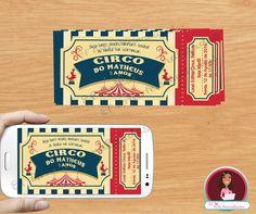 Convite circo, convite digital, convite impresso, circo, circus