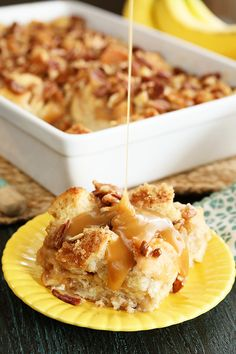 Hummingbird Bread Pudding with Salted Caramel Sauce by Southern Bite Pudding Recipes, Dessert Recipes, Cajun Desserts, Pecan Recipes, Cajun Recipes, Milk Recipes, Egg Recipes, Copycat Recipes, Sauce Recipes