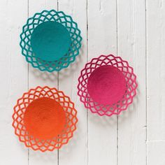 Wired Lace Bowl (turquoise) | Hand woven African lace design telephone wire bowls & platters
